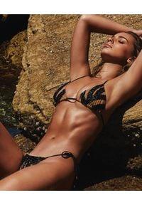 BEACH BUNNY - Dół od bikini Jolie. Kolor: czarny. Wzór: paski, aplikacja