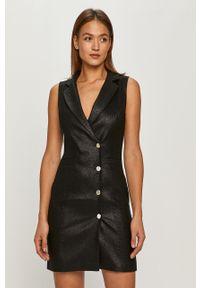 Czarna sukienka Morgan bez rękawów, casualowa, prosta