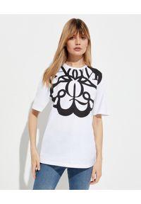 Biały t-shirt Alexander McQueen z nadrukiem