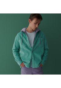 Reserved - Bawełniany t-shirt - Zielony. Kolor: zielony. Materiał: bawełna