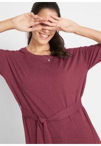 Sukienka bawełniana oversize, krótki rękaw bonprix czerwony klonowy. Kolor: czerwony. Materiał: bawełna. Długość rękawa: krótki rękaw. Typ sukienki: oversize