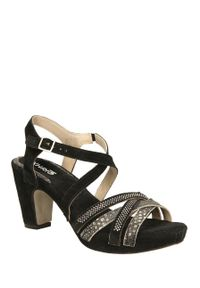 Czarne sandały Khrio na lato, eleganckie