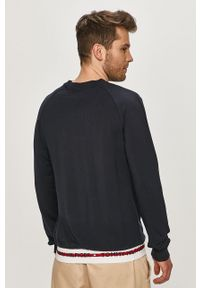 Niebieska bluza nierozpinana TOMMY HILFIGER casualowa, z aplikacjami, na co dzień