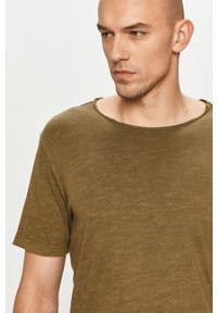 Jack & Jones - T-shirt. Okazja: na co dzień. Kolor: zielony. Materiał: bawełna, dzianina. Styl: casual