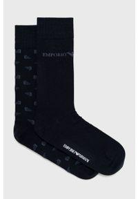 Emporio Armani Underwear - Emporio Armani - Skarpetki (2-pack). Kolor: niebieski