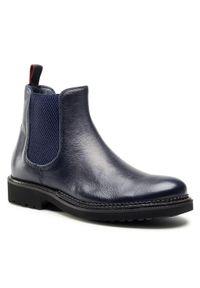 Niebieskie buty zimowe QUAZI casualowe, z cholewką, na co dzień