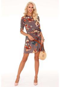Sukienka wizytowa Merribel casualowa, w kwiaty, prosta
