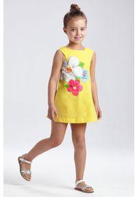 Żółta sukienka Mayoral na ramiączkach, casualowa