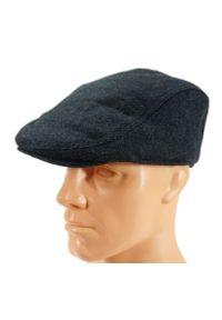 Niebieska czapka Pako Jeans w kropki, na jesień