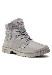 Szare buty zimowe Palladium z cholewką