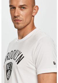 Biały t-shirt New Era z nadrukiem, na co dzień, casualowy