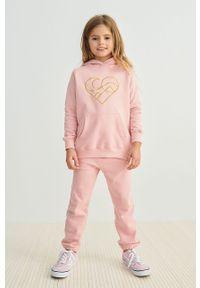 Różowe spodnie dresowe Femi Stories casualowe, na co dzień