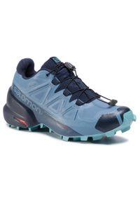 Niebieskie buty do biegania salomon Gore-Tex, na co dzień