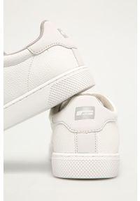 Białe sneakersy Jack & Jones na sznurówki, z okrągłym noskiem