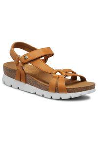 Brązowe sandały Panama Jack vintage