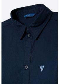 Niebieska koszula Guess casualowa, z klasycznym kołnierzykiem