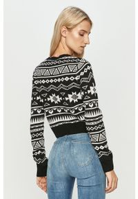Czarny sweter TALLY WEIJL z długim rękawem, długi