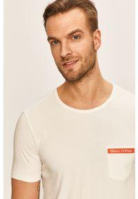 Biały t-shirt Marc O'Polo z okrągłym kołnierzem