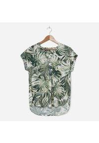 House - Wiskozowa bluzka z roślinnym motywem - Wielobarwny. Materiał: wiskoza