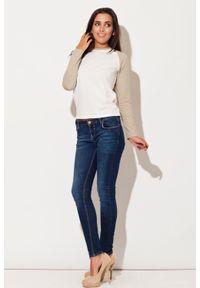 Beżowa bluzka z długim rękawem Katrus długa
