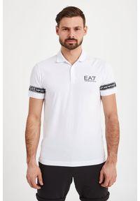 Koszulka polo EA7 Emporio Armani w jednolite wzory, sportowa, polo