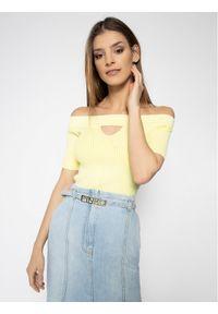Guess Sweter Alina W0GR87 Z2ND0 Slim Fit. Kolor: żółty