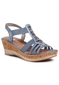 Niebieskie sandały Remonte casualowe, na co dzień