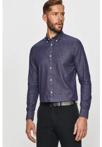 Niebieska koszula TOMMY HILFIGER button down, casualowa, na co dzień
