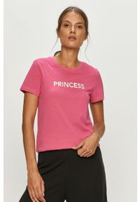 Różowa bluzka only na co dzień, casualowa