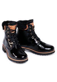 Czarne buty trekkingowe Panama Jack z cholewką