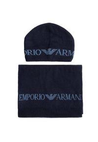 Niebieska czapka zimowa Emporio Armani
