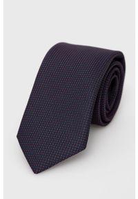 BOSS - Boss - Krawat. Kolor: niebieski