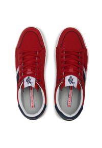 U.S. Polo Assn - Sneakersy U.S. POLO ASSN. - Vega141 VEGA4141S1/LT1 Red. Okazja: na co dzień. Kolor: czerwony. Materiał: skóra ekologiczna, materiał. Szerokość cholewki: normalna. Styl: casual, klasyczny #7