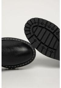 Czarne botki Steve Madden z cholewką, z okrągłym noskiem