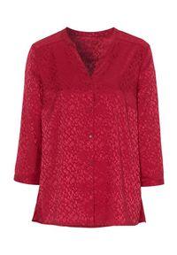 Cellbes Bluzka czerwony female czerwony 34/36. Typ kołnierza: dekolt w serek. Kolor: czerwony. Materiał: tkanina, żakard. Styl: elegancki