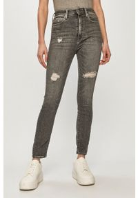 Calvin Klein Jeans - Jeansy. Stan: podwyższony. Kolor: szary