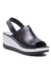 Czarne sandały Simen
