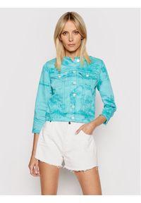 Guess Kurtka jeansowa Denim W1GN14 D2G6M Zielony Regular Fit. Kolor: zielony. Materiał: denim, jeans