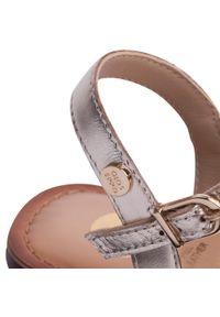 Złote sandały Gioseppo na co dzień, na średnim obcasie, casualowe, na obcasie