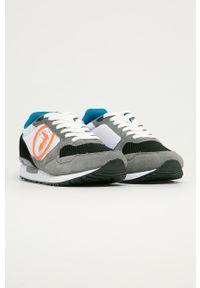 Szare sneakersy Trussardi Jeans z cholewką, na sznurówki