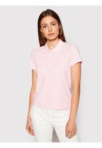 Guess Polo Logo Pique W1YP38 RAQS0 Różowy Slim Fit. Typ kołnierza: polo. Kolor: różowy