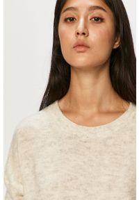 Jacqueline de Yong - Sweter. Okazja: na co dzień. Kolor: szary. Długość rękawa: długi rękaw. Długość: długie. Wzór: ze splotem. Styl: casual