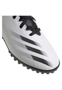Adidas - Buty piłkarskie dla dzieci adidas X GHOSTED.4 FW6801. Zapięcie: sznurówki. Materiał: guma. Szerokość cholewki: normalna. Sport: piłka nożna