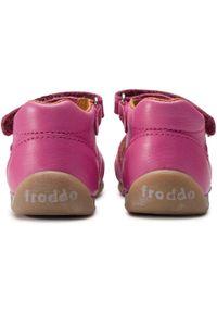 Różowe sandały Froddo z aplikacjami, na co dzień