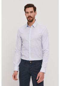 Niebieska koszula Marciano Guess klasyczna, długa