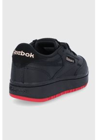 Reebok Classic - Buty Club C Double. Nosek buta: okrągły. Zapięcie: sznurówki. Kolor: czarny. Materiał: guma. Obcas: na platformie. Model: Reebok Classic, Reebok Club