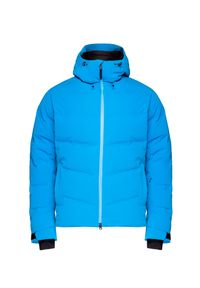 Niebieska kurtka narciarska Bogner na zimę, z klasycznym kołnierzykiem
