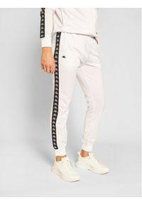 Kappa Spodnie dresowe Helge 308020 Biały Regular Fit. Kolor: biały. Materiał: dresówka