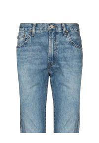 Ralph Lauren - RALPH LAUREN - Niebieskie jeansy Sullivan Slim. Stan: podwyższony. Kolor: niebieski. Wzór: aplikacja