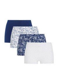Cellbes Bokserki 4 Pack granatowy biały female niebieski/biały 50/52. Kolor: niebieski, biały, wielokolorowy. Materiał: bawełna, guma
